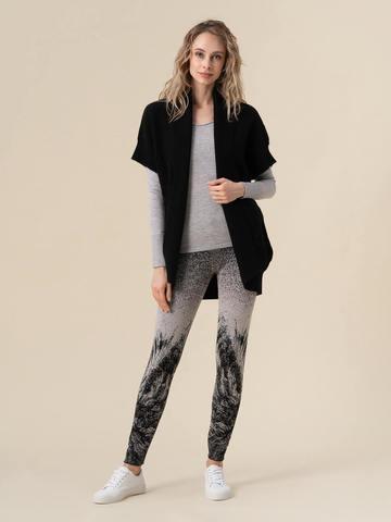 Женские брюки черного цвета из кашемира и вискозы - фото 2