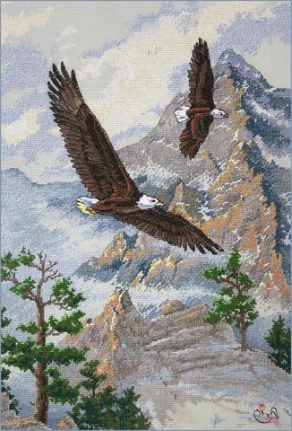 Набор для вышивания Парящие в вершинах. Арт. 3172