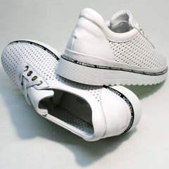 Полу туфли полу кроссовки летние женские Evromoda 215.314 All White.