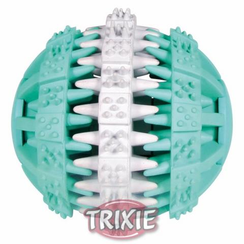 """Trixiе 32941 Игрушка д/собак """"мяч """"dentafun"""" бело/зеленый, резина ф6см"""