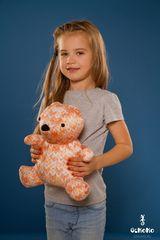 Подушка-игрушка антистресс «МиниМишка Вязаный» оранжевый 2