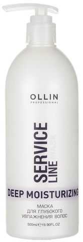 OLLIN SERVICE LINE Маска для глубокого увлажнения волос 500мл/ Deep Moisturizing Mask