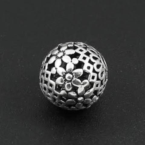 Бусина Сад 14 мм серебро 925