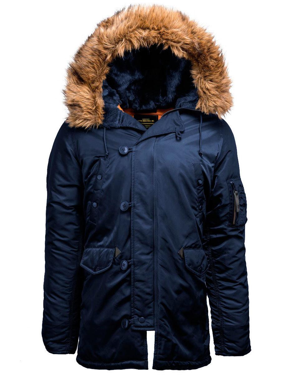 Куртка Аляска Alpha Slim Fit N-3B (т. синяя - r.blue/orange)