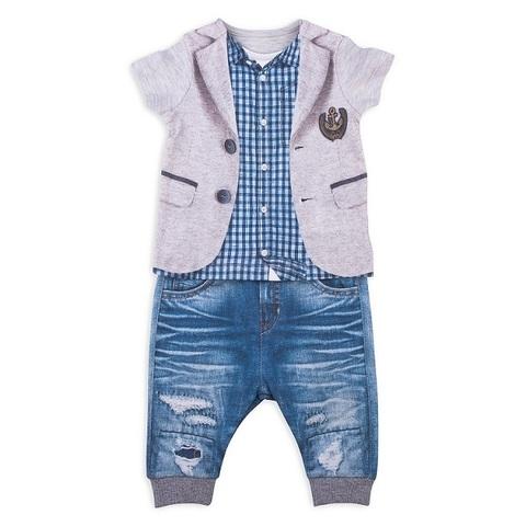 Папитто. Комплект футболка и штанишки для мальчика с пиджаком FASHION JEANS