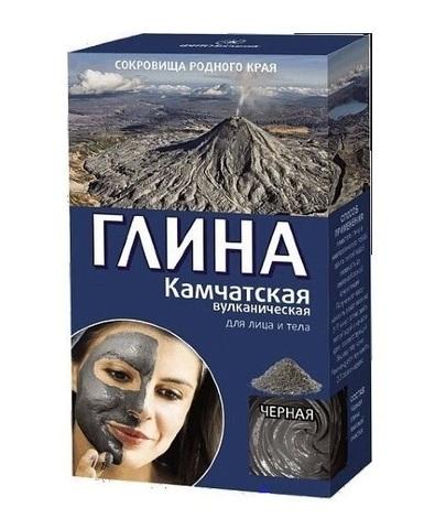 Фитокосметик Сокровища родного края Глина черная Камчатская вулканическая 100г