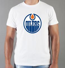 Футболка с принтом НХЛ Эдмонтон Ойлерз (NHL Edmonton Oilers) белая 005