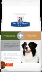 Ветеринарный корм для собак Hill`s Prescription Diet Metabolic + Mobility, контроль веса/здоровье суставов, с курицей