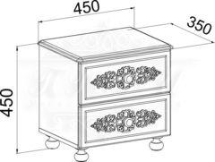 Ассоль, АС-04 Тумба прикроватная с ящиками