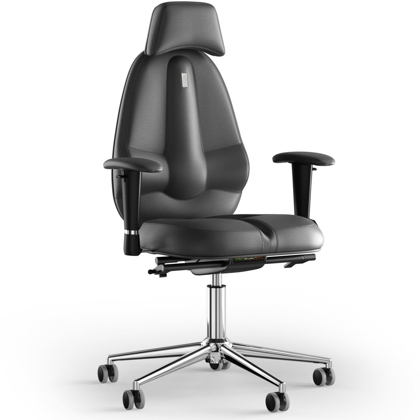 Кресло KULIK SYSTEM CLASSIC Кожа с подголовником без строчки