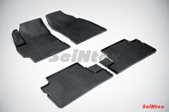 """Резиновые коврики """"Сетка"""" для Toyota Corolla  (2007-2013)"""
