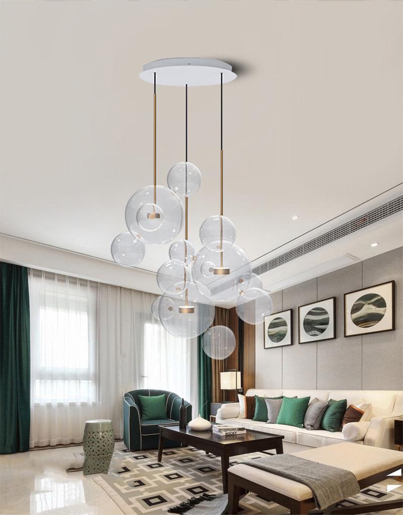 Подвесной светильник копия  Bolle by Giopato & Coombes (5 плафонов)