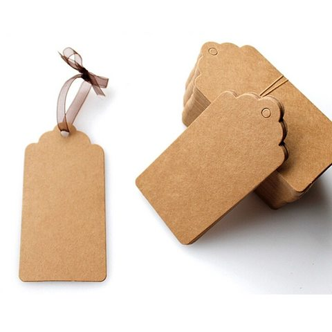 Бірка з картону Фігурна - крафт