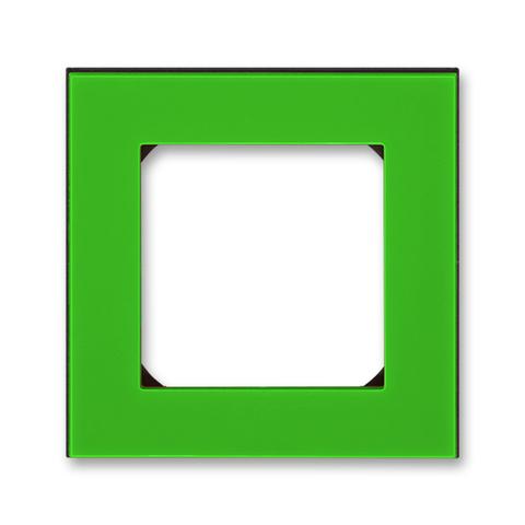 Рамка на 1 пост. Цвет Зелёный / дымчатый чёрный. ABB. Levit(Левит). 2CHH015010A6067