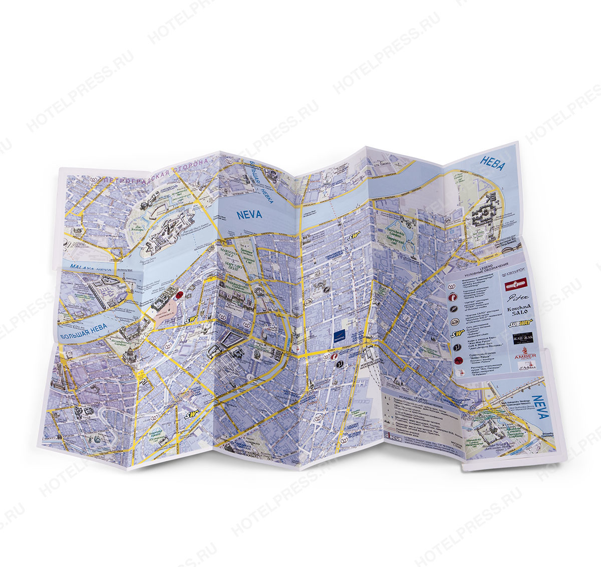 Мини карта центра Санкт-Петербурга гостя отеля Novotel