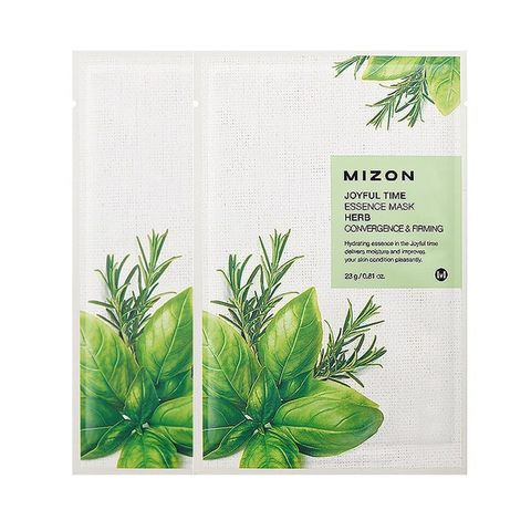MIZON  Маска травяная  joyful time essence mask herb 23 g