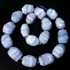 Бусина сапфирин AA кружевной многогранник 20х14 мм 1 бусина