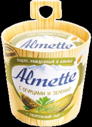 """Сыр творожный """"Almette"""" с огурцами и зеленью, 150 г"""