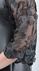 Леди. Элегантное платье больших размеров. Черный.