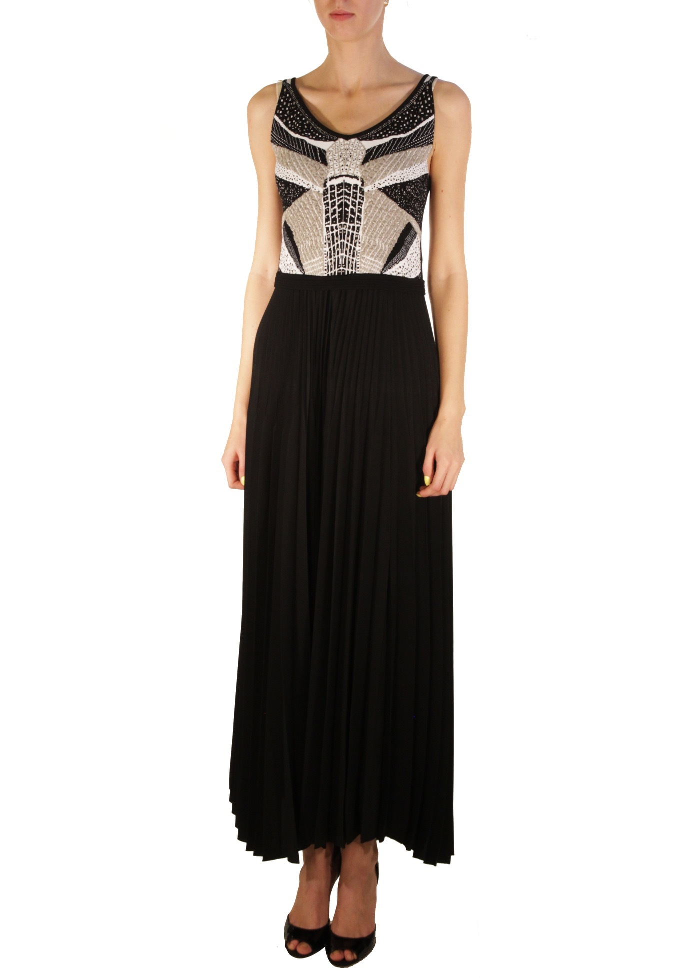 Платье из вискозы и полиэстера D'EXTERIOR