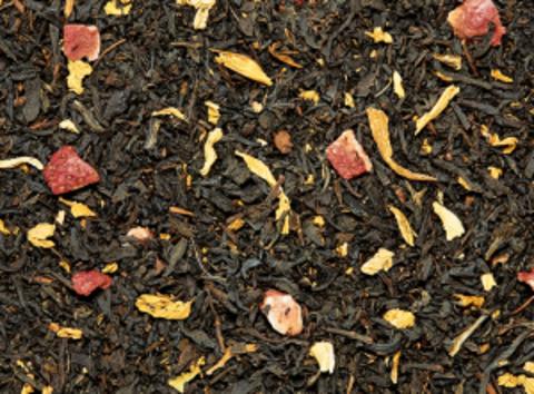 Черный чай Персик-земляника