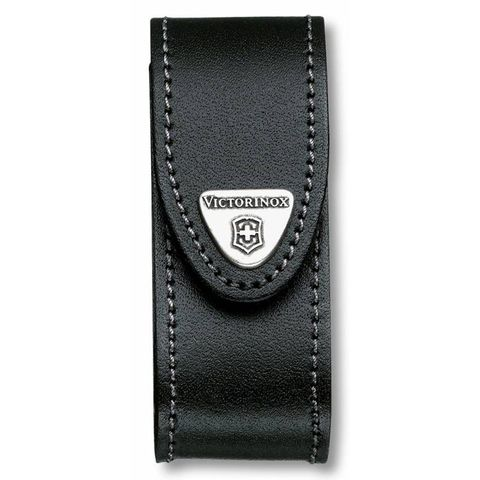 Чехол Victorinox (4.0520.31) для 91мм толщина 2-4 ур кожа поворот черный