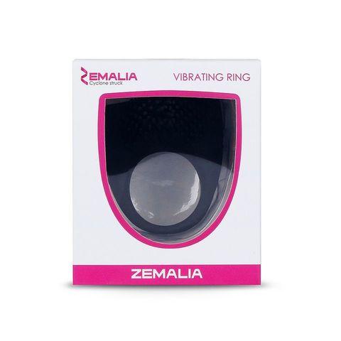 Чёрное эрекционное кольцо Zemalia Armour