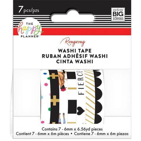 Набор скотчей Happy Planner Mini Washi Tape 6мм x 7м х 7шт