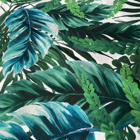 хлопок с тропическим принтом