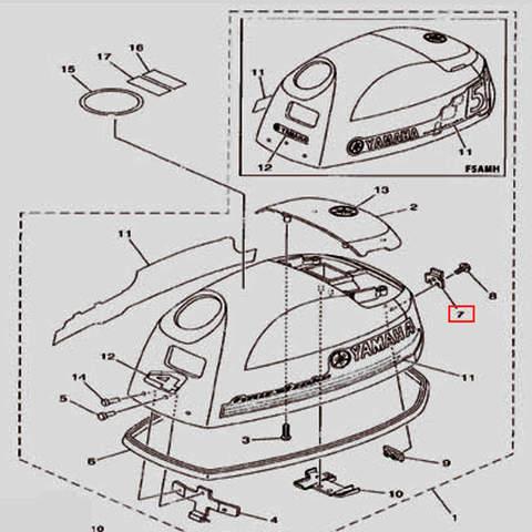 Крючок капота для лодочного мотора F5 Sea-PRO(1-7)