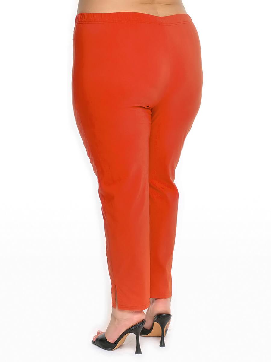 Терракотовые женские узкие брюки 76