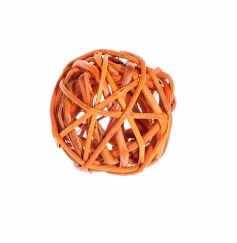 Плетеные шары из ротанга (набор:12 шт., d5см, цвет: оранжевый)