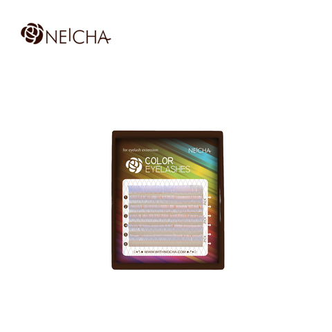 Ресницы NEICHA нейша цветные 6 линий MIX серебряный