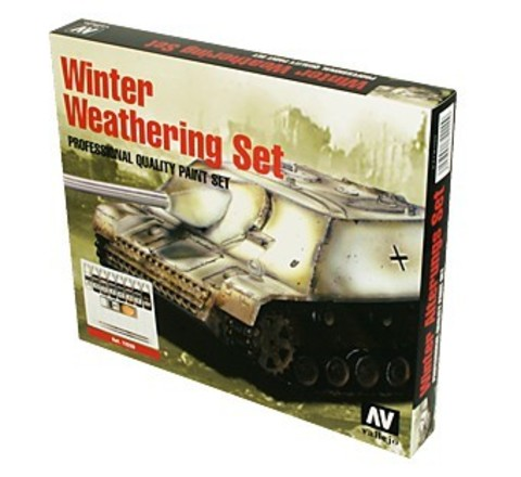 Model Color Winter Weathering (9) + 2 Brushes 17 ml.