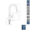 Смеситель для кухни с выдвижной лейкой RS-Q 937902V1 - фото №2