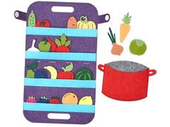 Сумка-игралка Овощи, фрукты и ягоды, Smile decor, арт. Ф272