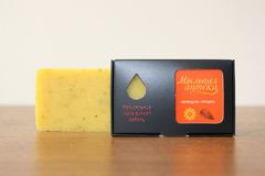 Мыло натуральное /органика/ КАЛЕНДУЛА с  маслом сладкого миндаля / ТМ ИСКУСЪ