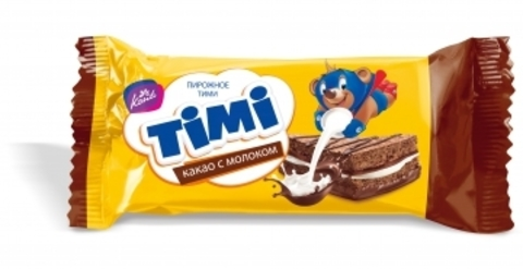 Пирожное бисквитное «TIMI» Какао с молоком 175г