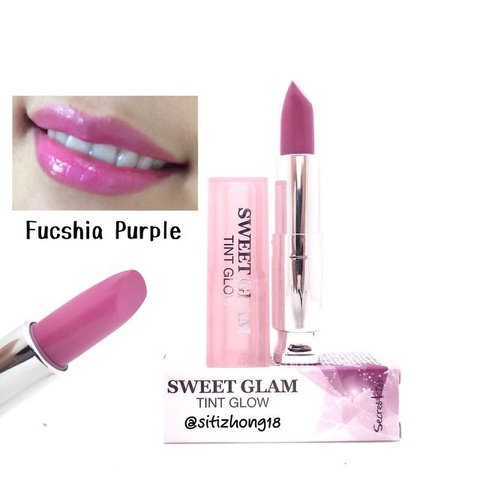 SECRET KEY Lip Sweet Glam Тинт-бальзам увлажняющий Sweet Glam Tint Glow Fuchsia Purple