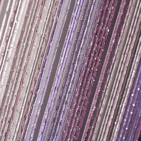 Шторы радуга дождь - Сирень, розовые, сливовые. Ш-300см., В-280см. Арт.126