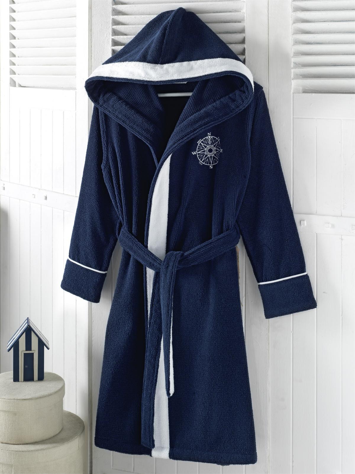 Халаты женские MARINE LADY  синий  женский халат с капюшоном Soft Cotton (Турция) MARINE_LADY.jpg