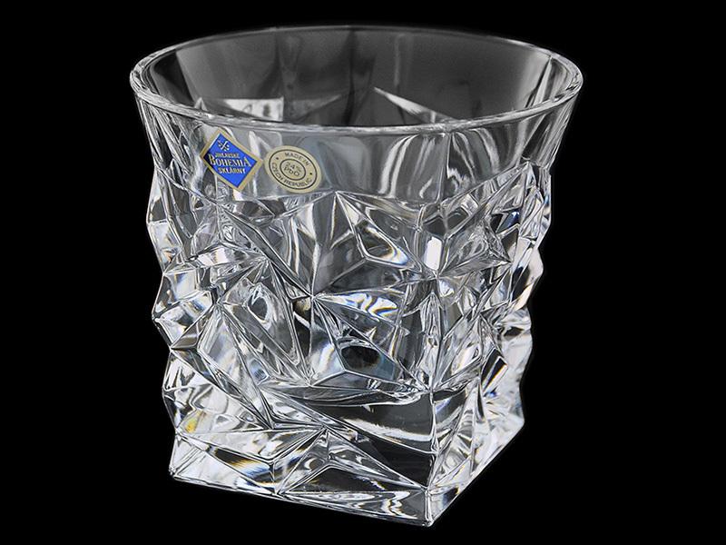 Набор из 6 хрустальных стаканов для виски «Glacier» 6 стаканов для виски версаче серебро 630285
