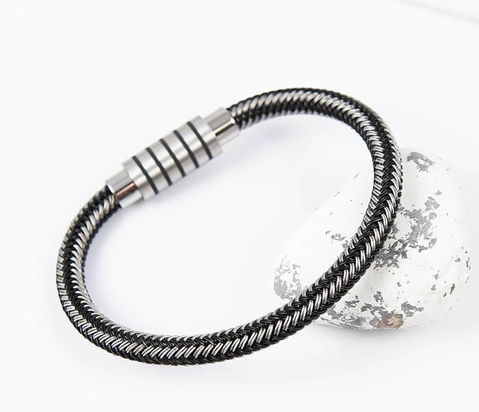 Фото - Monzo, Мужской браслет из стальной проволоки (19 см) мужской браслет из кожи со стальной проволокой 20 см