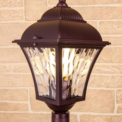 Apus F шоколад уличный светильник на столбе IP44 GL 1009F
