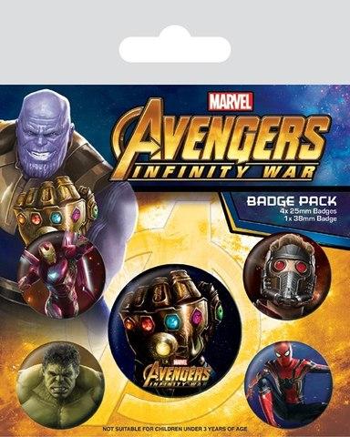 Набор значков «Мстители: Война бесконечности»