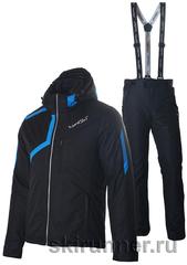 Утеплённый прогулочный лыжный костюм Nordski Premium Black-Blue мужской