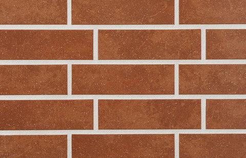 Stroeher - 841 rosso, Keravette shine, glasiert, глазурованная, гладкая, 240x71x8 - Клинкерная плитка для фасада и внутренней отделки