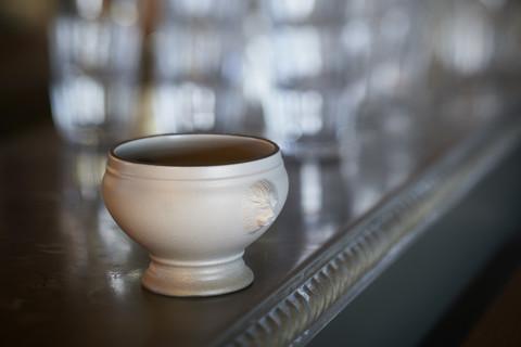 Фарфоровая суповая чашка, серая, артикул 651873, серия French Classics
