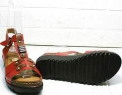 Модные женские сандали босоножки на сплошной подошве Rifellini Rovigo 375-1161 Rad.