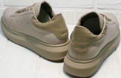 Удобные кроссовки для ходьбы Markos 1523 All Beige.